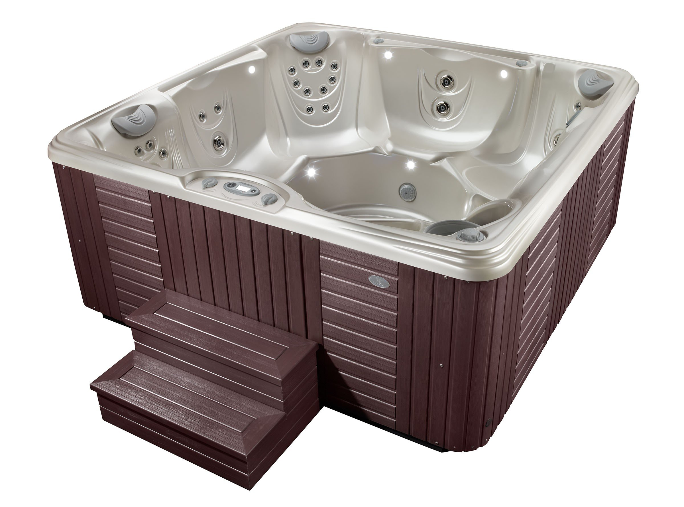 tubs stairs color colorado steps rust red tub redwood and plastic denver handi hot spas