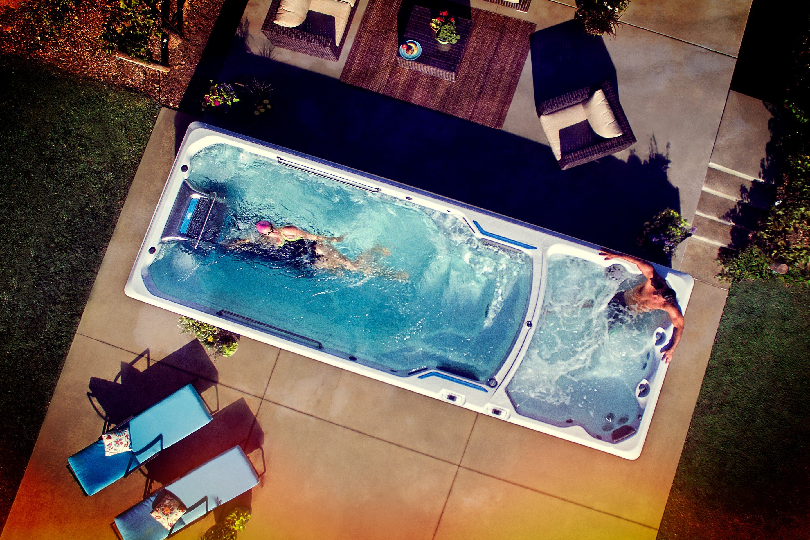 In an Endless Pools Swim Spa, you Set the Pace | Hot Tubs in ...