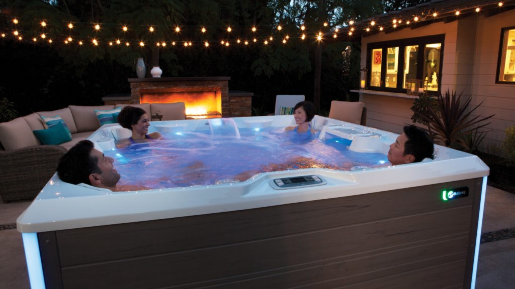Hot tubs are not just for the rich and famous anymore. Live a life of luxury in a HotSpring hot tub, surrounded by elegant lights.