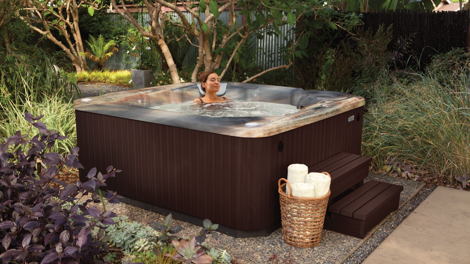 """Step one to become a """"hot tubber"""": have a hot tub in your backyard"""