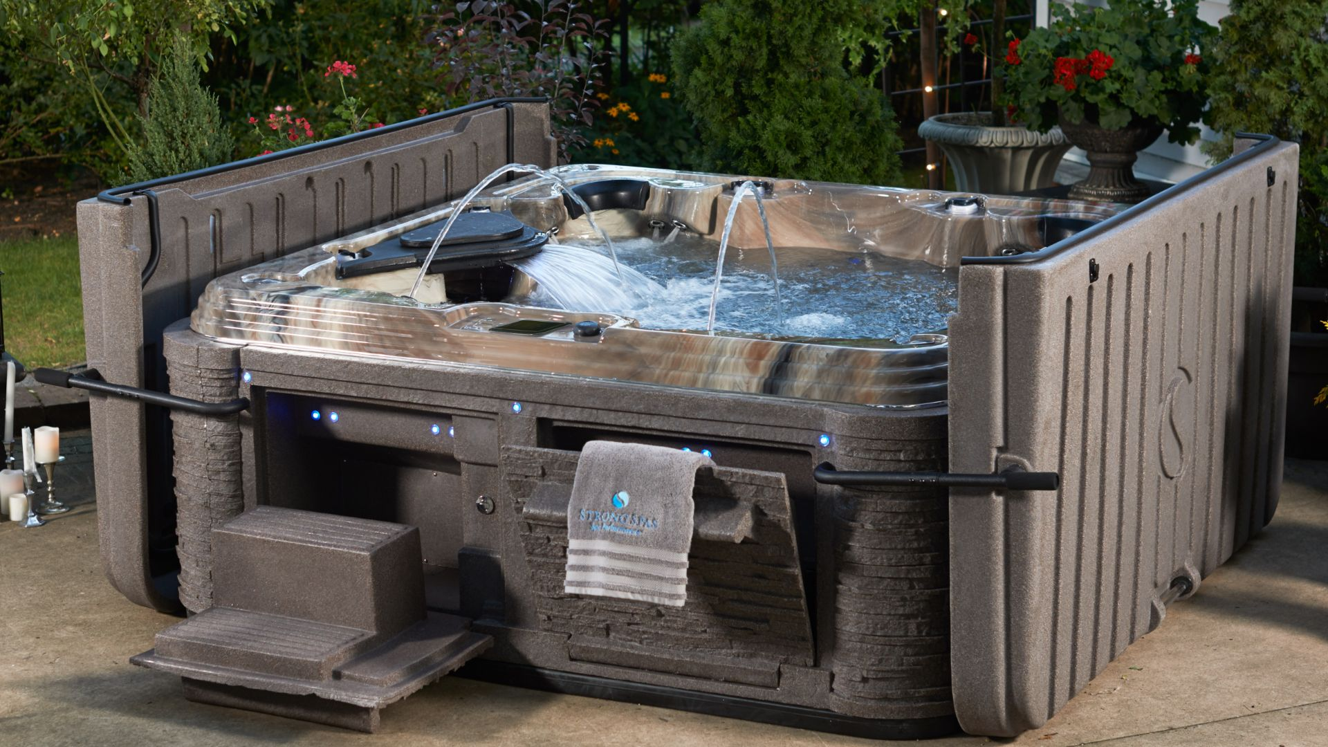 Strong Spas models for small urban backyards
